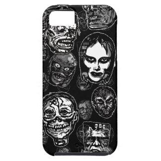 Horror Movie Monster Masks (b&w) iPhone SE/5/5s Case