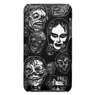 Horror Movie Monster Masks (b&w) iPod Case-Mate Case