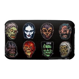 Horror Movie Monster Masks (color) iPhone 3 Case