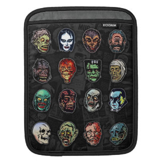 Horror Movie Monster Masks (color) Sleeve For iPads