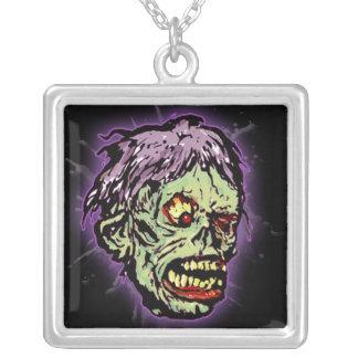 Horror Movie Monster Masks (shock) Square Pendant Necklace