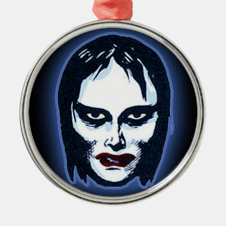 Horror Movie Monster Masks (vampire) Round Metal Christmas Ornament