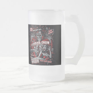 Horror movie Monsters show spookshow 16 Oz Frosted Glass Beer Mug