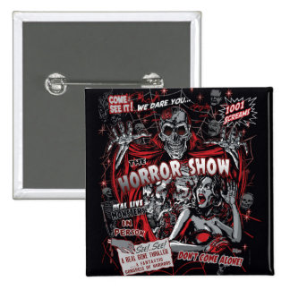 Horror movie Monsters spook show Button