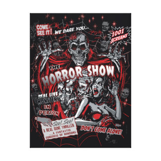 Horror movie Monsters spook show Canvas Print