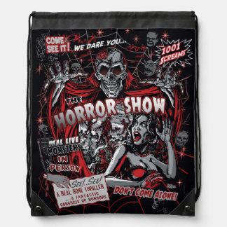 Horror movie Monsters spook show Drawstring Backpack