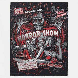 Horror movie Monsters spook show Fleece Blanket