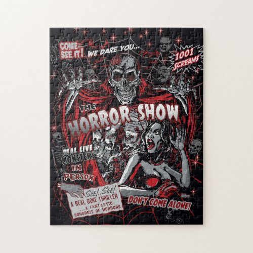 Horror movie Monsters spook show Jigsaw Puzzle