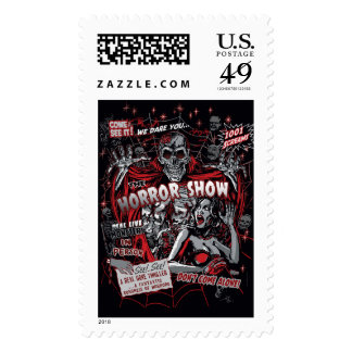 Horror movie Monsters spook show Stamps