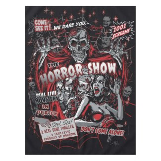 Horror movie Monsters spook show Tablecloth