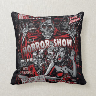 Horror movie Monsters spook show Throw Pillow