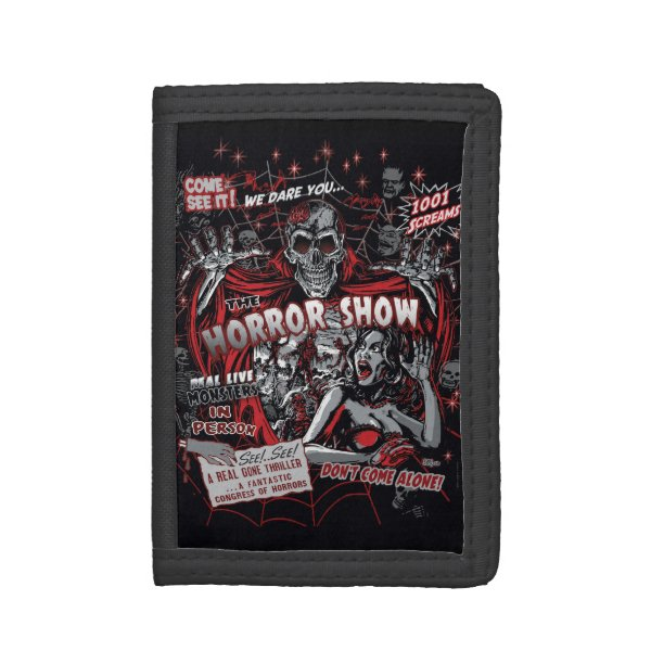 Horror movie Monsters spook show Tri-fold Wallet