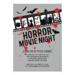 Horror Movie Night Filmstrip Halloween Party Card