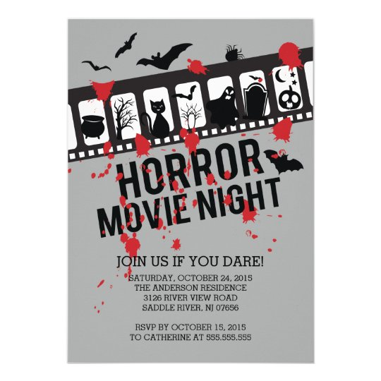 Horror Movie Invitations Announcements – Scary or Horror Invitation Cards