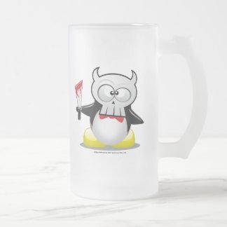 Horror Movie Penguin Frosted Glass Beer Mug