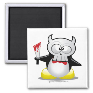 Horror Movie Penguin Magnet