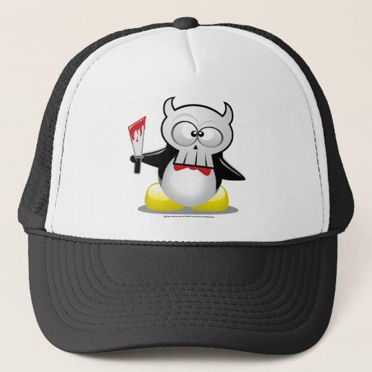Horror Movie Penguin Trucker Hat
