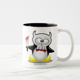 Horror Movie Penguin Two-Tone Coffee Mug