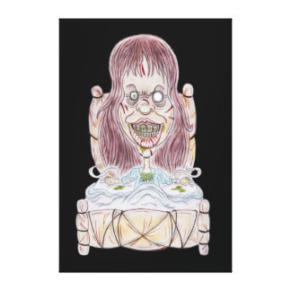 Horror Movie Possessed Caricature Drawing Canvas Canvas Print