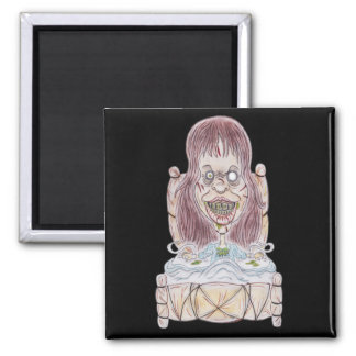 Horror Movie Possessed Caricature Drawing Magnet