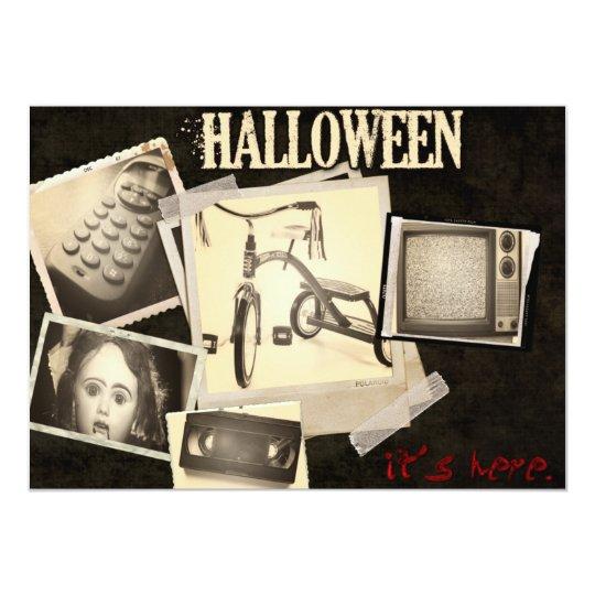 Horror Movie Staples Halloween Party Invitations
