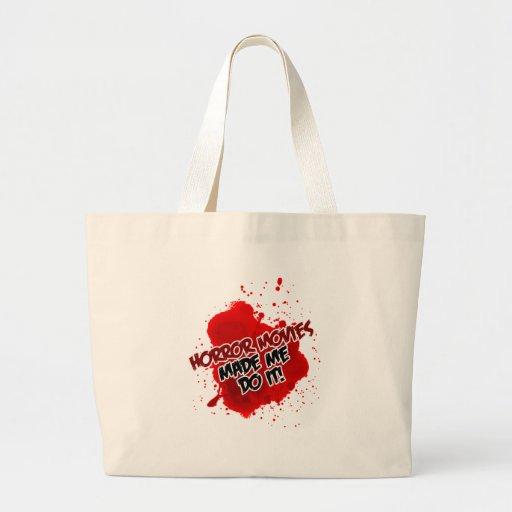 Horror Movies Made Me Do It! Jumbo Tote Bag
