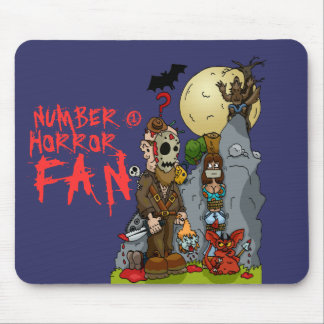 Horror Mural Mouse Mat Mouse Pad