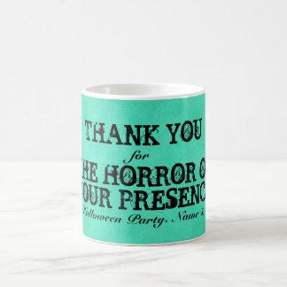 Horror of Your Presence. Green Halloween Thanks Mug