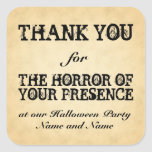 Horror of Your Presence. Halloween Party Favor Sticker