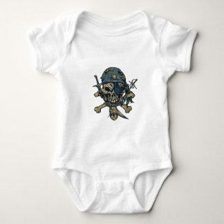 Horror Pirate Skull Baby Bodysuit