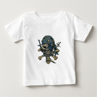Horror Pirate Skull Baby T-Shirt