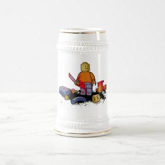 Horror plástico jarra de cerveza