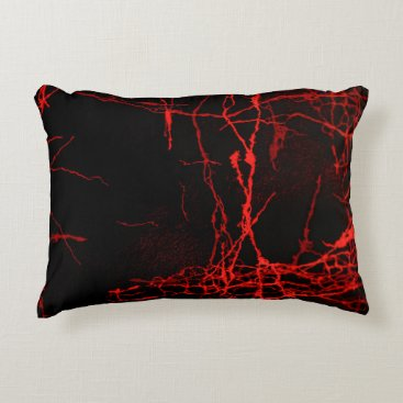 Halloween Themed Horror Red Accent Pillow
