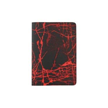 Horror Red Passport Holder