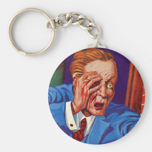 ¡Horror retro del kitsch del vintage mi ojo! ¡Mi o Llavero Redondo Tipo Pin