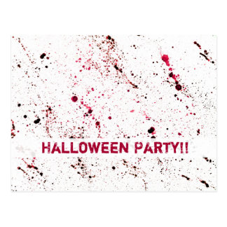 Horror rojo de Halloween de la diversión del Postal