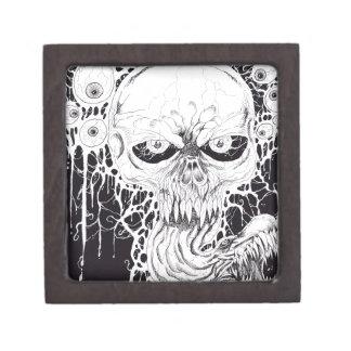 Horror Skull Art Keepsake Box