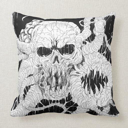 Horror Skull Pillow