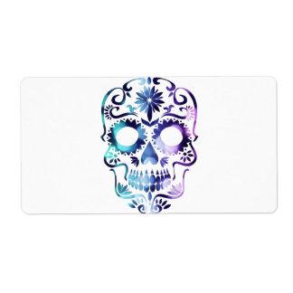 Horror Skull Symbol Label