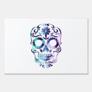 Horror Skull Symbol Yard Sign