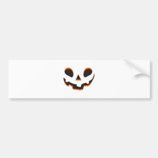 Horror smiley pumpkin face bumper sticker