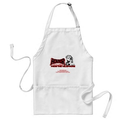 Horror Tales From The Telephone Retro Movie Ad Adult Apron