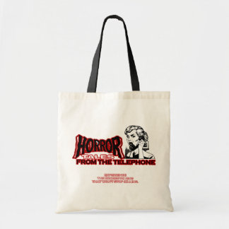 Horror Tales From The Telephone Retro Movie Ad Tote Bags