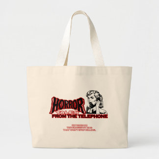 Horror Tales From The Telephone Retro Movie Ad Canvas Bag