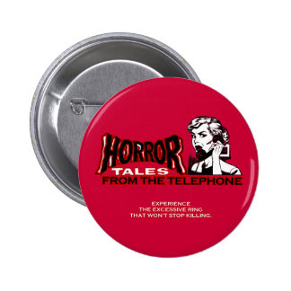Horror Tales From The Telephone Retro Movie Ad Pin