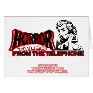 Horror Tales From The Telephone Retro Movie Ad Cards