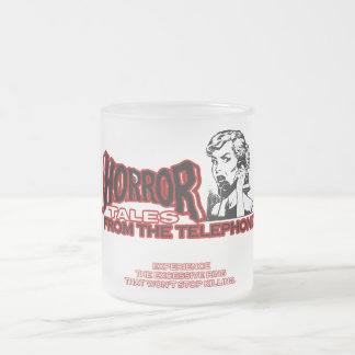 Horror Tales From The Telephone Retro Movie Ad Frosted Glass Coffee Mug
