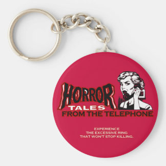 Horror Tales From The Telephone Retro Movie Ad Key Chain