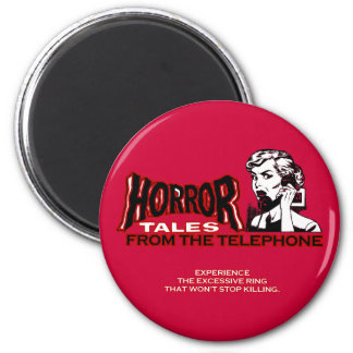 Horror Tales From The Telephone Retro Movie Ad Fridge Magnet