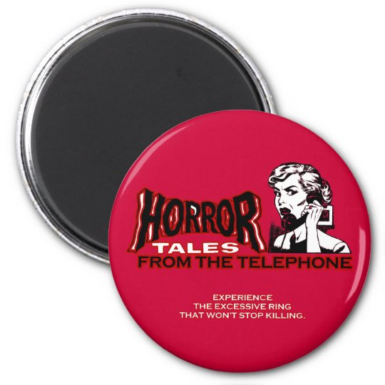 Horror Tales From The Telephone Retro Movie Ad Magnet